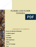 Flooring and Finishes in Housekeeping Department