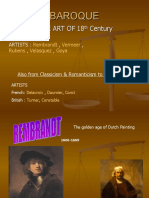 2-History of Painting, Baroque