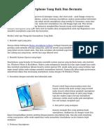 Trik Membeli Smartphone Yang Baik Dan Bermutu