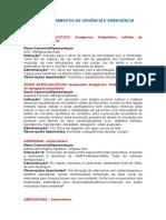 Lista de Medicamentos de Urgência e Emergência Revisado