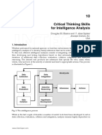 Critical Thinking Skills for Intelligence Analysis