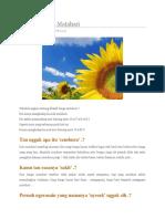 Filosofi Bunga Matahari