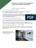 Excelente empresa dedicada a la decoración de dormitorios minimalistas y al diseño de dormitorios minimalistas juveniles