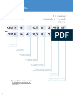 Notation Ciment Courant