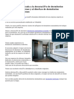 Gran empresa dedicada a la decoración de dormitorios minimalistas modernos y al diseño de dormitorios minimalistas modernos