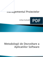 Metodologii Dezvoltare Software