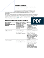 Rapport Prospection