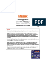 Mazak Parameter List, M-Codes, Alarm Manual Forl Matrix