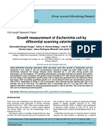 Growth Measurment of E Coli by DSC