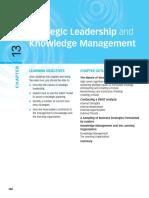 Kepemimpinan Strategik Dan Knowledge Management