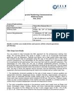 IMC Midterm Case Study