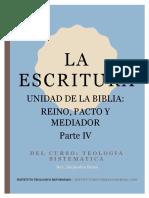 Teologia Sistematica - La Unidad de Las Escrituras - Reino, Pacto y Mediador - Parte IV (1)
