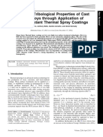 Improving Tribological Properties of Cast Al-Si Alloys Through Application of Wear-Resistant Thermal Spray Coatings