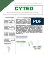 Boletín Cyted Nº30 2016 Web