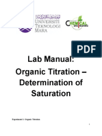 1. Lab Manual_Organic Titration_Determination of Saturation