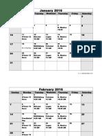 2016 Meeting Schedule