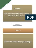 Unidad 1. 3. 4 Historia de La Psicologia