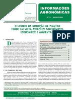 O FUTURO DA NUTRIÇÃO DE PLANTAS TENDO EM VISTA ASPECTOS AGRONÔMICOS, ECONÔMICOS E AMBIENTAIS