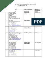 Paris Conf Inquiry List