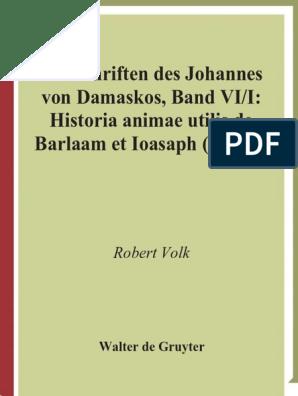Pts 61 Johannes Von Damaskos Vi1 Historia Animae Utilis De