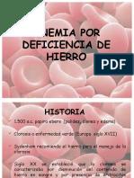 Anemia Ferropenica y Megaloblastica