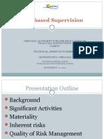 Risk Based Supervision Training Grenada TA GARFIN Sept 8 - 11,2014