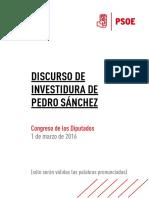 Discurso de Investidura de Pedro Sanchez