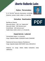 Carlos Alberto Gallardo Leòn