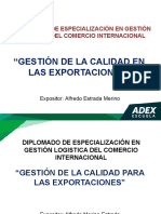 Gestion de Calidad Para Las Exportaciones
