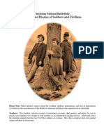 letters and diaries of soldiers and civilians