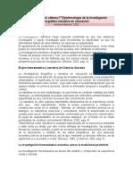 """""""de Nobis Ipsis Silemus"""" Epistemología de La Investigación Biográfico-narrativa en Educación"""