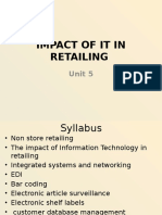 Impact of It in Retailing