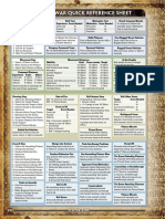 FOW Quickplay Sheet