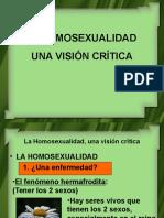La Homosexualidad, Una Visión Crítica