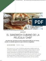 El Sandwich Cubano de La Película 'Chef' _ Recetas El Comidista EL PAÍS