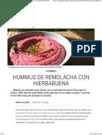Hummus de Remolacha Con Hierbabuena _ Recetas El Comidista EL PAÍS