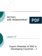 SME Management - MGT601 Power Point Slides Lecture 37