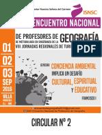 Circular N° 2 Encuentro Nacional de Profesores de Geografía