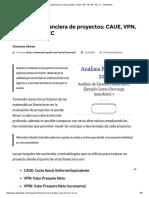 Evaluación Financiera de Proyectos_ CAUE, VPN, TIR, B_C, PR, CC • GestioPolis