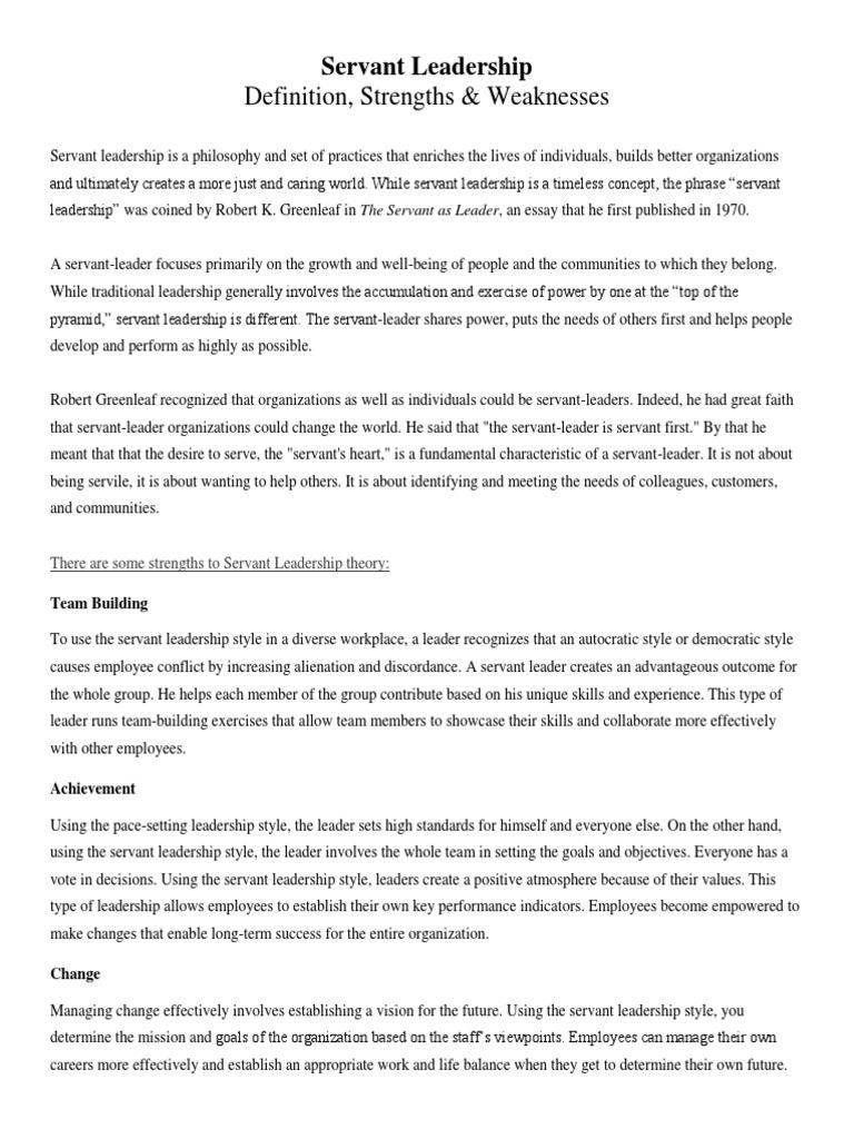 servant leadership pdf servant leadership leadership mentoring