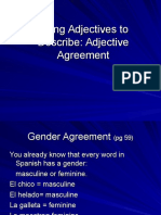 av adjective agreement