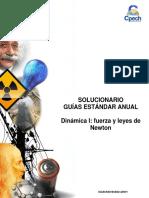 Solucionario Guía Práctica Dinámica I Fuerza y Leyes de Newton 2014