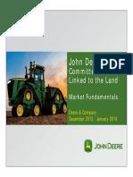 2016 Global Farming Equipment Market Fundamentals Jan 2016