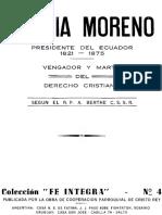 """""""García Moreno"""" Vengador y Mártir Del Derecho Cristiano"""
