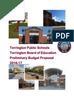 TPS Preliminary Budget - February 29, 2016