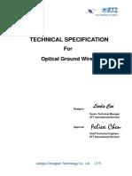 Especificaciones tecnicas OPGW
