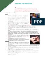 proceduresfor instruction