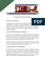 Abces Conciliacion en Materia Comercial