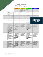 SWR Schedule-1st Grade