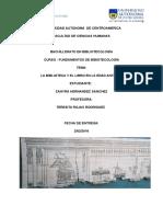 Fundamientos de Bibliotecologia 2016. La Biblioteca y El Libro en La Edad Antigua